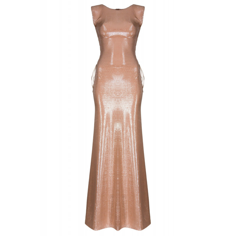 SARAH-sukienka maxi Nude