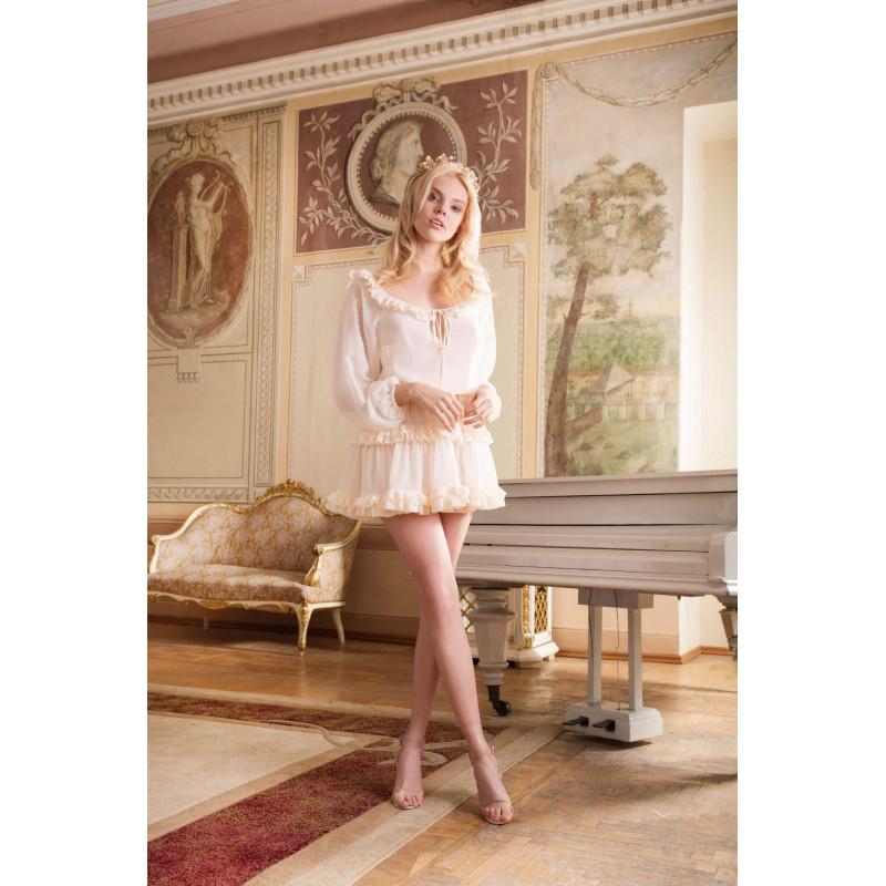 FRILLY- szyfonowa sukienka...