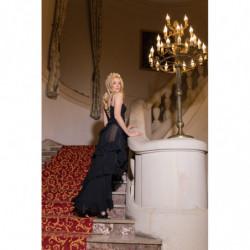Taylor-brązowa sukienka oversize