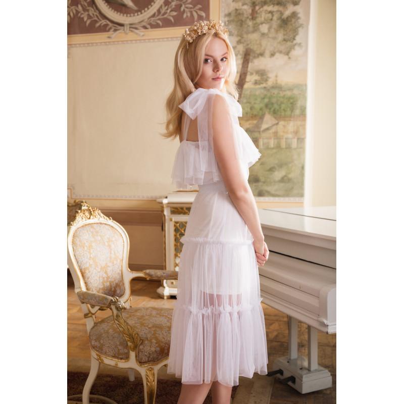 MARIA- biała sukienka midi...
