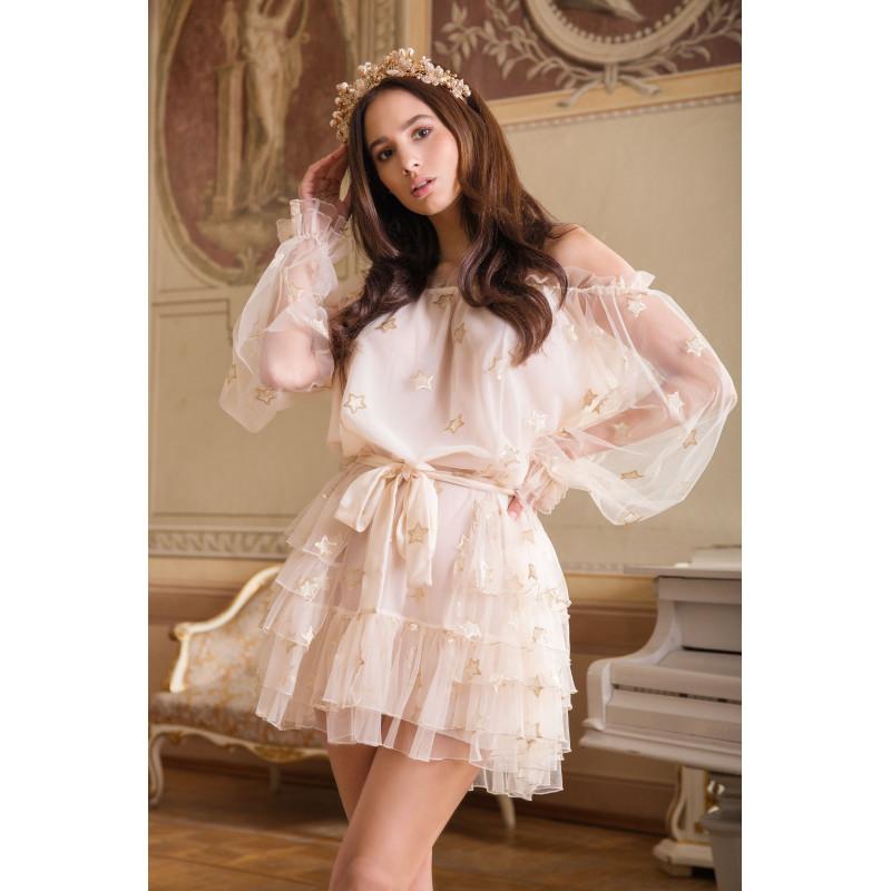 SABRINA-beżowa sukienka...