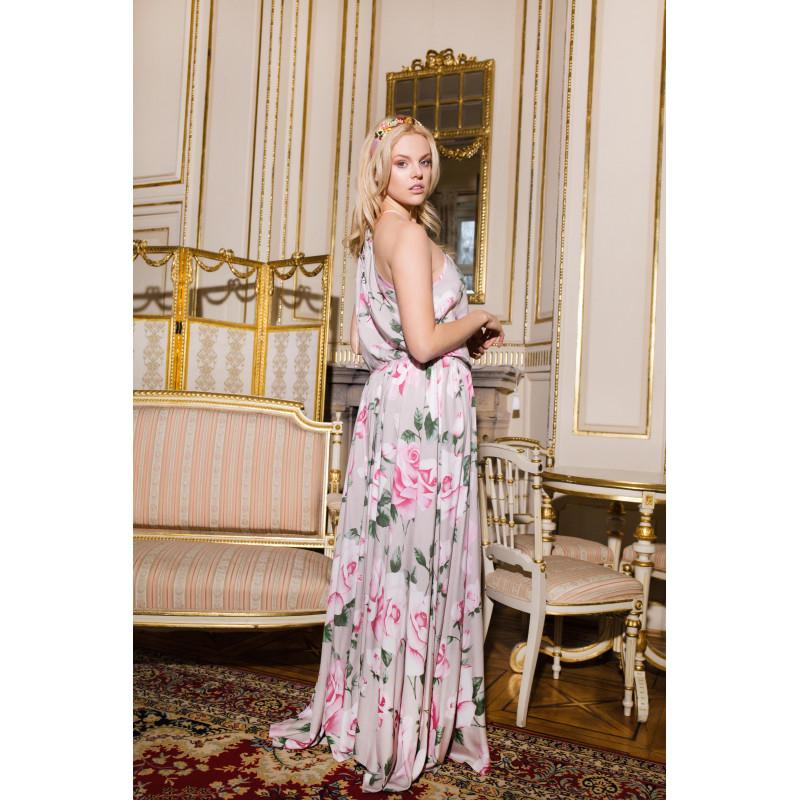 ROSES-sukienka maxi w print...