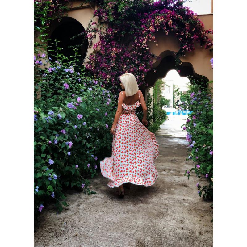 WATERMELON-sukienka maxi w...