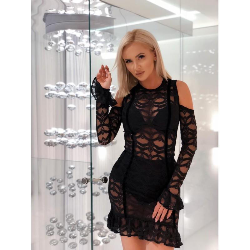 avali - czarna sukienka...