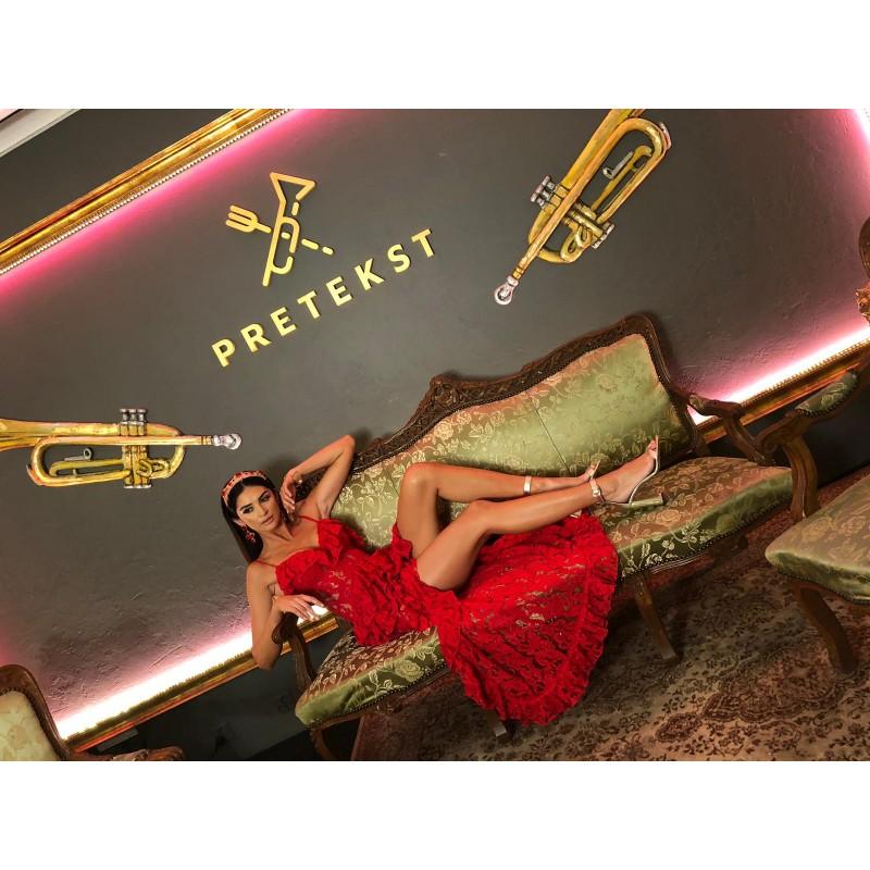 Karen Red - sukienka maxi z...