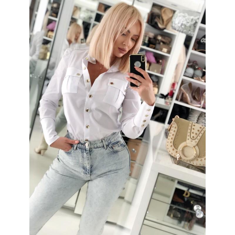 CELINE - biała koszula