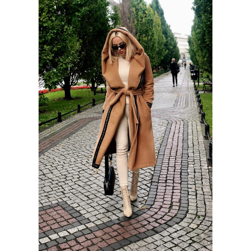 CARAMEL - knee-length coat