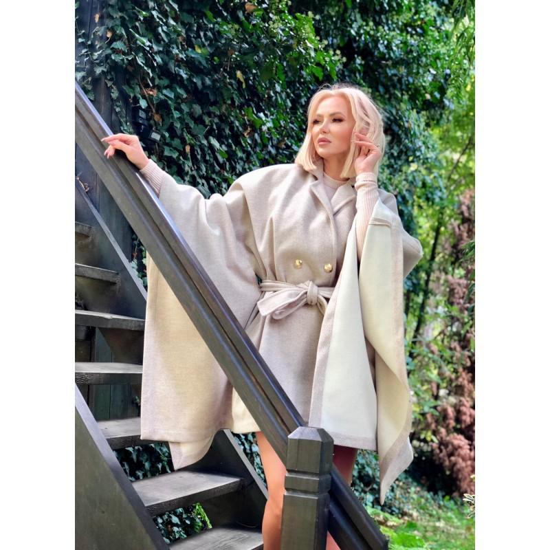 WOLLY COAT - woolen kimono...