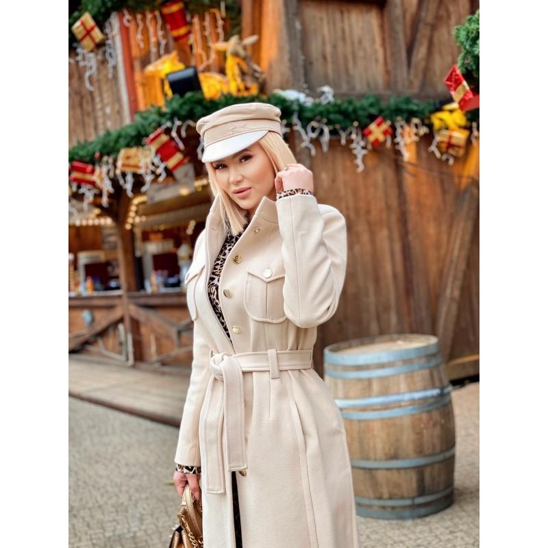 ANNICA - elegant nude coat