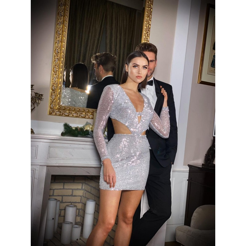 HEIDI - sequin dress with a...