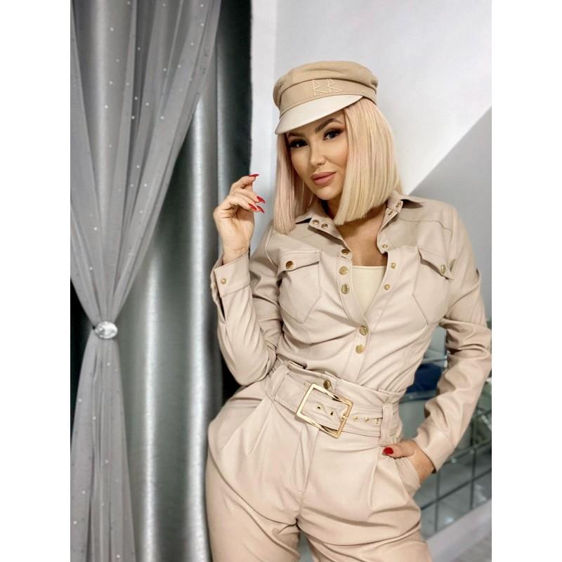 SEVILA SHIRT - logged beige...