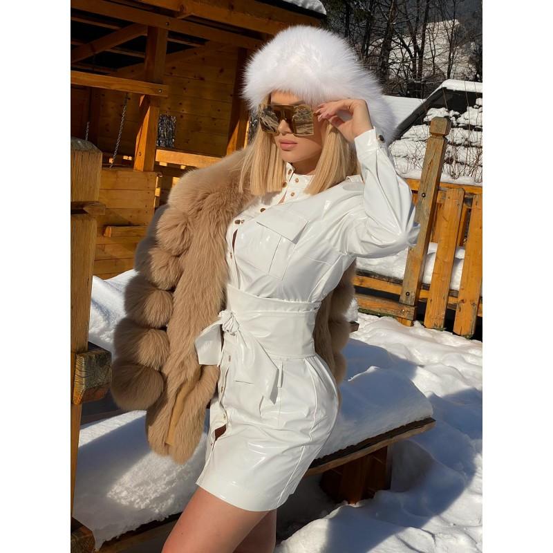 ISOBEL - white latex dress