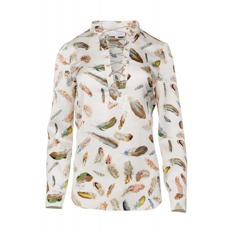 Dreamer-koszula z printem piór