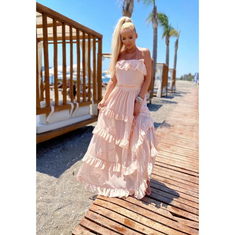 LARISA - chiffon maxi dress...