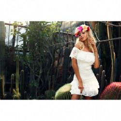 Therese-beżowa sukienka maxi