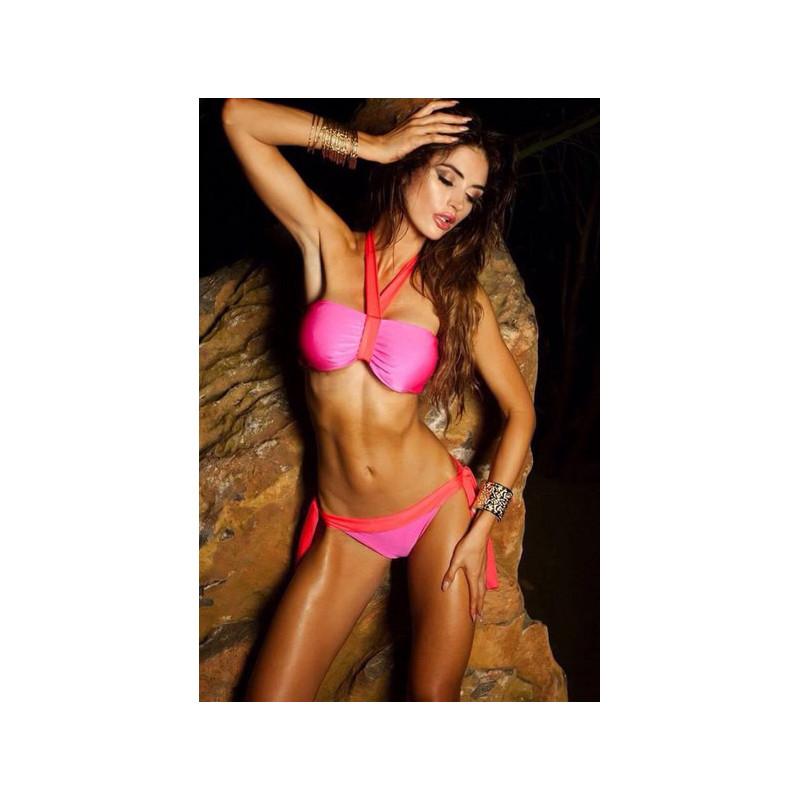 PINKOVI-bikini neonowy róż