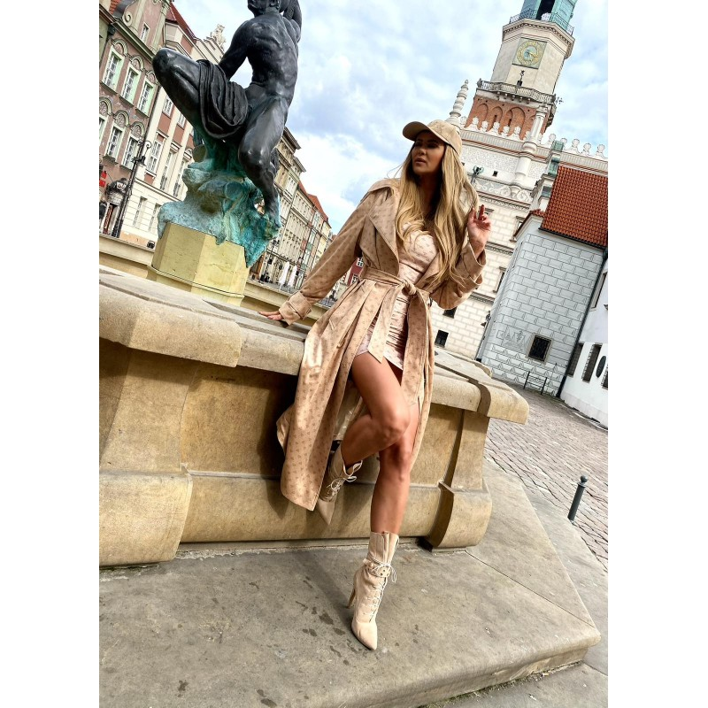 MOLLY - long beige trench...