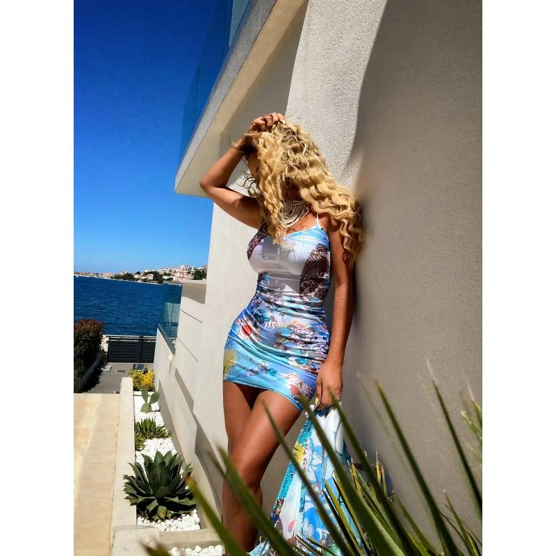 BLUE LAGOON DRESS - mini...
