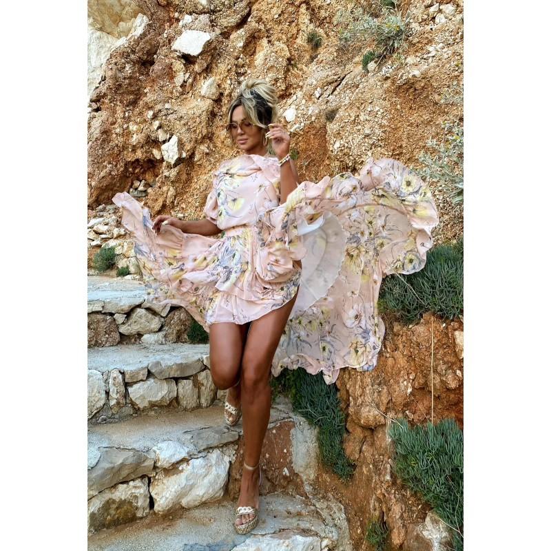 NARCI - chiffon dress with...