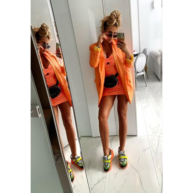BELLIS - orange oversize...