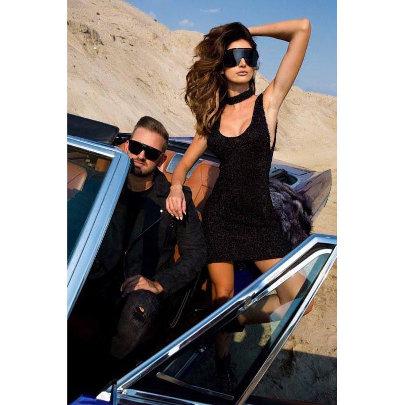 CHARME-czarna sukienka mini...
