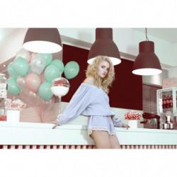 EIFFEL-sukienka mini z gipiury