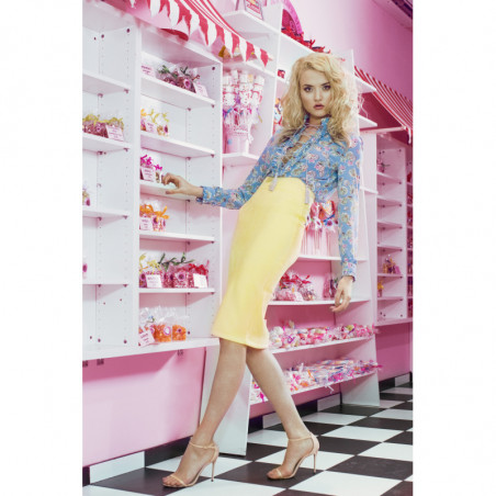 LINEA-zamszowa sukienka mini
