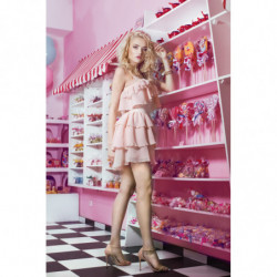TROCADERO-szara sukienka mini