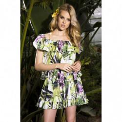 Camari-koralowa sukienka mini z zamszu